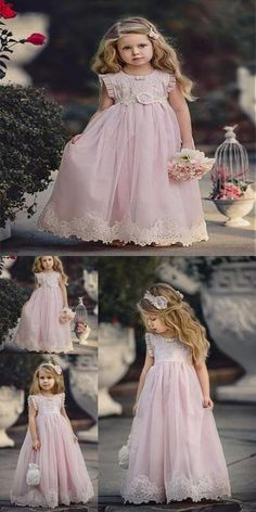 Dream/_mimi Baby Fashion Long Sleeve Flower Printing Lace Edge Knee-Length Dress