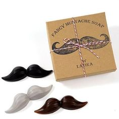 Gifts for Him: Mustache Soap Set