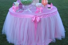 tulle fabric for table | ... table for dinner. Use a brightly colored or metallic piece of fabric