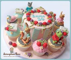 Beatrix Potter cake and cupcakes...too cute!