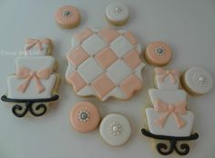 Pink and Pearl Glam Cookies