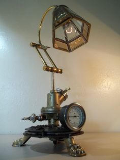Steampunk Desk Lamps, Recycled Lamps - iD Lights