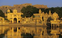 Jaiselmer, Rajahstan, India.    This lake only fills when it has rained. Which only happens a few times every couple of years