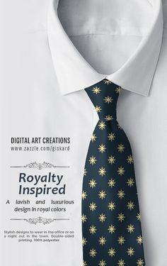 "ROYALTY INSPIRED... ""A lavish and luxurious design in royal colors""...  #exotic, #stars, #starspattern, #lavish, #luxurious, #elegant, #classic, #royal, #preppy, #stylish, #sleek, #chic, #wardrobe, #accesory #tie #necktie #formen #mantie #fashionformen #fashion #zazzle #zazzler #zazzleshop #digitalartcreations"