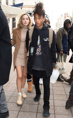 Jaden Smith & Sarah Snyder from Kanye West's Yeezy Season 3: Star Sightings  The family friend and his girlfriend arrive for Kanye's big show at Madison Square Garden.