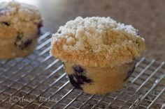 Streusel-Blueberry-Muffin, i made the mini form of these just now && they are so moist & delicious!! i added a bit of granola to the topping & extra vanilla and a hint of cinnamon, it gives it a perfectly nice added touch <3