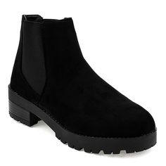 Boots Women S Butymodne Black Suede Flat Boots With Elastic Band 2017 2 Black Suede Flats Suede Flat Boots Boots