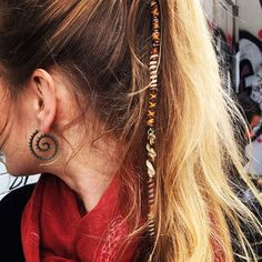 Beautiful Hairwrap by DiKARiCrafts. #hairwrap #bohemian jewelry