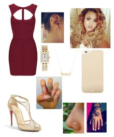 """""""Untitled #454"""" by dymin ❤ liked on Polyvore featuring Christian Louboutin, Kate Spade, Concord and Marc by Marc Jacobs"""