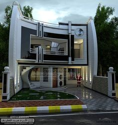 There are many modern residential house design ideas that we can discuss. Here we have outlined some key examples of modern residential house design ideas Bungalow House Design, House Front Design, Modern House Facades, Modern House Plans, Classic House Design, Modern House Design, Exterior House Colors, Exterior Design, Exterior Homes