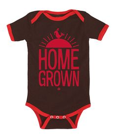 Love this Brown & Red 'Home Grown' Bodysuit - Infant on #zulily! #zulilyfinds