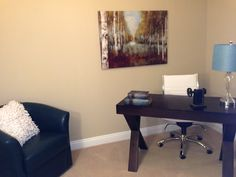 "Office ""after"" staging - www.homescapes-sd.com #home #staging"