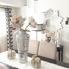 Fall z gallerie decor, or thanksgiving glam decor Pinterest @trulynessa89 ☆