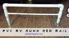 DIY PVC Bunk Bed Rail - a DIY safety net for those kids who tumble out of bed