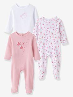8fe9f22dbf591 Lot de 3 pyjamas bébé fille en pur coton pressionnés dos blanc -  Vertbaudet. Pyjama Bébé FilleEnfantsBlancVêtements ...
