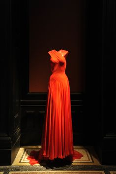 A chiffon dress that has been worn by Rihanna at the Azzedine Alaïa Retrospective [Photo by Dominique Maître]