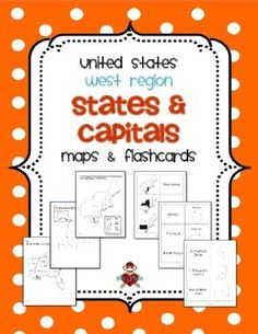 US West Region States & Capitals Maps & Flashcards. UPDATED 2/16/2014! Includes 3 maps (labeled, blank with & without word bank) for the West Region (Alaska, California, Colorado, Hawaii, Idaho, Montana, Nevada, Oregon, Utah, Washington, Wyoming) of the United States and 3 sets of flashcards to study states and/or capitals (state shaded in region / state name, state name and outline / capital, state outline / state name and capital). $