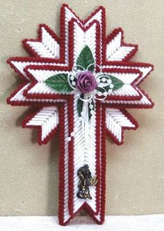 STARBURST CROSS by SHERRY SHAFFER 1/3 (COMPLETED PROJECT SEWN BY BEVERLY LANE)
