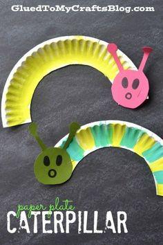 Plate Caterpillar - Kid Craft Paper Plate Caterpillar {Kid Craft} - I want to make a bunch of little ones and make mobiles!Paper Plate Caterpillar {Kid Craft} - I want to make a bunch of little ones and make mobiles! Spring Crafts For Kids, Projects For Kids, Art For Kids, Craft Projects, Spring Crafts For Preschoolers, Paper Plate Crafts For Kids, Craft Kids, Spring Craft Preschool, Simple Crafts For Kids
