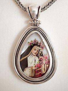 Saint Rose of Lima/Archangel Michael Reliquary Pendant | IFAM | Online