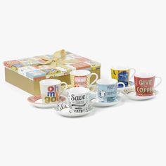 6 Chávenas de Chá Oh My God | referência 130675192 | A Loja do Gato Preto | #alojadogatopreto | #shoponline Black, Gatos, Dish Sets, Tents, Store, Boutique Online Shopping, Tableware