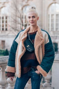 March 3, 2016 Tags Paris, Shearling, Aymeline Valade, Chloé, Model Off Duty, Models, FW16 Women's