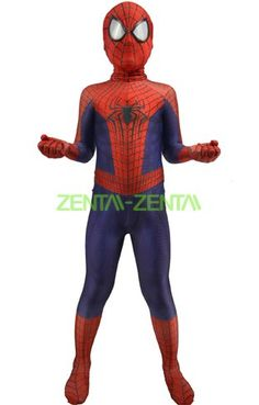 Kid The Amazing Spider-Man 2 Printed Zentai Suit with Muscle Shading and Lenses [ Girls Fashion Clothes, Girl Fashion, Fashion Outfits, Superhero Costumes Kids, Avengers Room, The Amazing Spiderman 2, Figurines D'action, Spiderman Suits, Zentai Suit