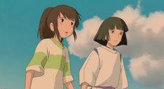 / Spirited Away Studio Ghibli Art, Studio Ghibli Movies, Collage Mural, Chihiro Y Haku, Girls Anime, Howls Moving Castle, Hayao Miyazaki, Animation Film, Totoro