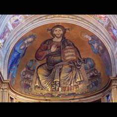 Category:Cathedral (Pisa) - Mosaic of Christ Pantocrator Christ Pantocrator, St John The Evangelist, Pisa Italy, Tuscany Italy, Religious Images, Sculpture, Gothic Art, Medium Art, African Art