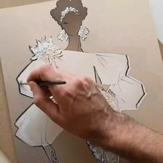 Fashion Illustration video by VROSS DESIGN Source by klausdieterbalzer fashion illustration Fashion Drawing Tutorial, Fashion Illustration Tutorial, Fashion Illustration Dresses, Illustration Mode, Fashion Design Illustrations, Wedding Illustration, Jewelry Illustration, Dress Design Sketches, Fashion Design Sketchbook