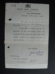 WW1 ANZAC SERVICEMAN F C Aurthur Mitchell St Richmond