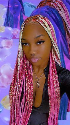 Black Girl Braided Hairstyles, Black Girl Braids, Girls Braids, Black Women Hairstyles, Pretty Hairstyles, Girl Hairstyles, Braid Hairstyles, Wig Styles, Curly Hair Styles