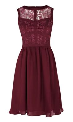Warehouse Lace Bodice Dress