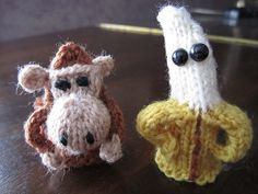 monkey and banana finger puppets by Ill save you a seat..., via Flickr