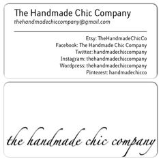 The Handmade Chic Company