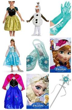 Disney Frozen Halloween Costumes for kids Anna Elsa Olaf Kristoff