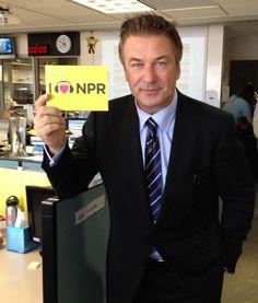 Alec Baldwin hearts NPR.