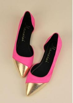 Pink dollies with gold toecap <3