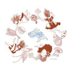 down the rabbit hole-sas_yosh Rabbit Hole, Diagram, Map, Illustration, Design, Illustrations, Maps, Design Comics, Peta
