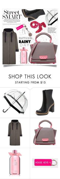 """""""Rainy day🌂"""" by ornellag ❤ liked on Polyvore featuring Saks Fifth Avenue, Melissa, Brunello Cucinelli, ZAC Zac Posen, Molton Brown, Hermès, Various Keytags and Native Union"""