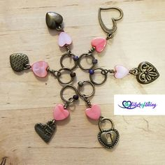Check out this item in my Etsy shop https://www.etsy.com/listing/476513543/heart-to-heart-stitch-markers-knitting