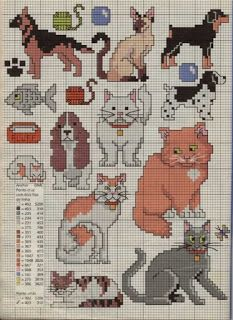 Tap to activate or exit full screen Cat Cross Stitches, Cross Stitch Borders, Cross Stitch Animals, Cross Stitch Charts, Cross Stitch Designs, Cross Stitching, Cross Stitch Embroidery, Embroidery Patterns, Cross Stitch Patterns