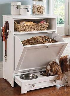 Estacion de alimentos para mascotas