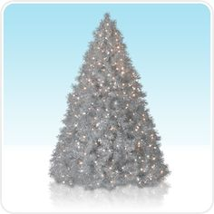 Meijer 4.5-Foot Silver Laser Tinsel Pre-Lit Christmas Tree with ...