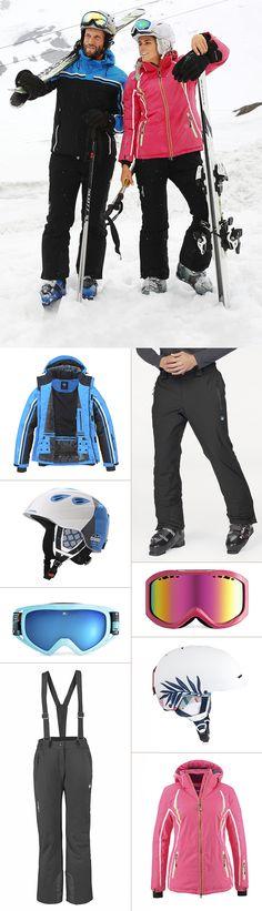 Mit diesen perfekt aufeinander abgestimmten Outfits bist du bereit für den nächsten Ski- oder Snowboardurlaub: Sowohl die Jacken und Hosen als auch Helme und Brillen bieten maximale Bewegungsfreiheit und hervorragende Funktionseigenschaften – ganz ohne auf den Style zu verzichten.