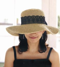 crochet hat women  crochet sun hat  with wide brim in different colors accepting custom order. $49.00, via Etsy.