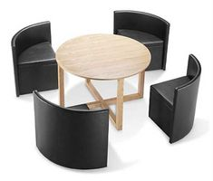 All Tucked In: Hans Olsen\'s Super Space-Saving Dining Set | Dining ...