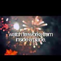 watch fireworks from inside a plane