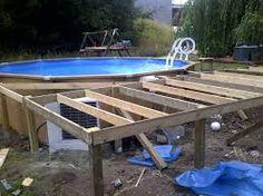 Aménagement Piscine Horssol Piquet Dacacia Lame Terrasse - Construire sa piscine hors sol