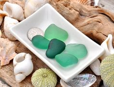 5 Sea Glass Pieces Teal Sea Green Jewelry by BeachBountySeaGlass